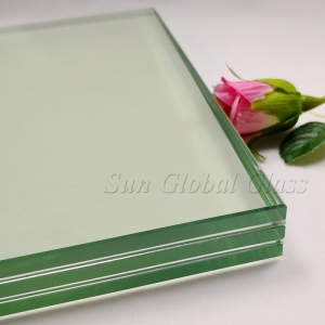 33.04mm tempered laminated glass, 10mm+1.52+10mm+1.52+10mm toughened laminated glass, 33.04mm clear tempered sandwich glass