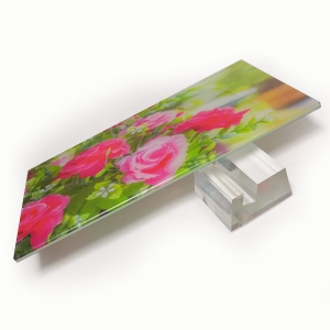 33.1 digital printed laminated glass, 3+0.38+3mm laminated tempered printed glass, 6.38mm PVB toughened printing laminated glass manufacturer