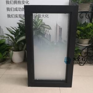 6+1.52PVB+6 gradient glass partition with frame, 66.4 gradient tempered laminated glass office partition, 13.52mm ESG VSG gradient glass for partition