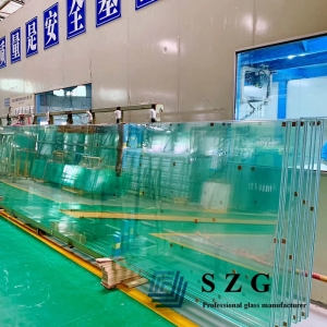 61.56mm clear Glass  Tempered with HST Laminated, sentryglass with 19+2.28+19+2.28+19mm SGP Glass,19+19+19 sgp laminated glass panel