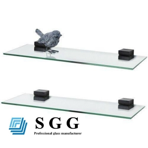 6mm tempered glass shelves, 6mm safety glass shelves , 6mm clear toughened glass shelves panels