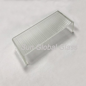 7mm clear thick ripples u-profile glass factory, U channel Glass glass sheets, economical U shape glass for building wall.