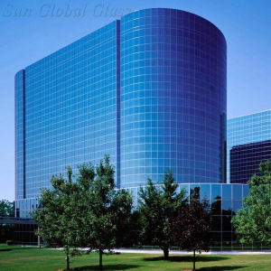 8mm+15A+8mm insulated glass facade,31mm insulated glass curtain wall,8mm+8mm double glazed exterior wall glass