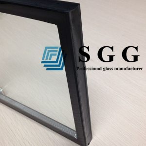 8mm+15A+8mm tempered insulated glass, 15mm spacer toughened insulated glass, 8mm+8mm safety sound proof   glass China factory
