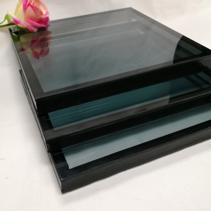 8mm+8mm green reflective tempered insulated glass, 8mm+12A+8mm green ESG IGU, 28mm green double glazed glass