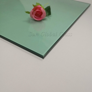 8mm light green HS glass,8mm F green heat strengthened glass,8mm green tempered float glass