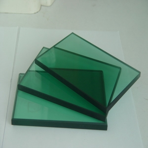 China Float Glass Manufacturer 12mm French Green Color Tinted Glass Can be Tempered