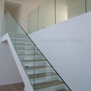 8mm Clear Tempered Glass Railing China Factory 10mm Clear