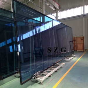 Custom Shape 27mm insulated glass, 27mm energy saving toughened insulated glass, 6mm+14a+6mm double glazing glass