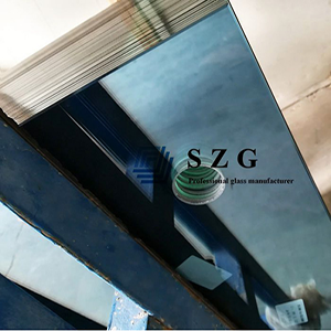 Factory Custom Blue Reflective Tempered Glass