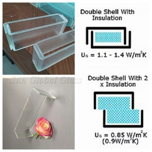 Safety U Profile Channel Glass, U-Shape Profile Tempered Glass, U Channel Toughened Glass