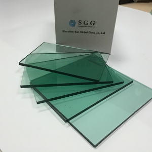 Temperable 8mm French Green Tinted Glass China Manufacturer