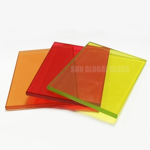 custom colored pvb film tempered building laminated glass panels supplier, security stained decorative toughened sandwich glass cut to size suppliers cost