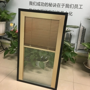 internally installed louver insulated glass for window,louver IGU glass window,energy saving inner installed louver hollow glass