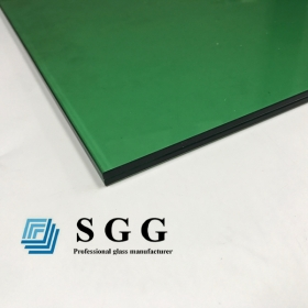 China 10.38MM dark green laminated glass, 551 dark green pvb film laminated glass, 5+5 dark green laminated glass factory