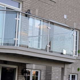 China 10.76mm tempered glass railing, 5+5mm laminated glass balustrade, 5+5mm sandwich safety glass handrail factory