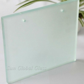 China 10MM Decorative Sandblasted Etched Glass, 10MM Obscure Sandblasting Glass, Cusotmized10MM Sandblasted Glass factory