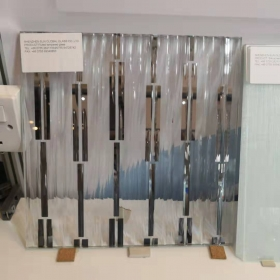 China 10MM fluted toughened safety glass panel,10mm fluted narrow tempered glass,10mm reeded glass for interior decoration factory