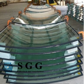 China 10mm+12A+10mm curved insulated  glass,10+10mm bent  insulated glass panel, 10 12 10mm double glazing glass factory