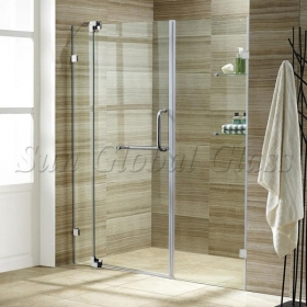 China 10mm clear tempered glass shower door, 10mm transparent toughened   glass shower door, 10mm tempered safety glass bathroom glass factory