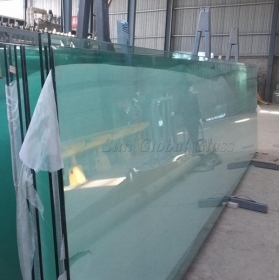 China 12 mm heat soaked toughened glass, 12 mm heat soaked safety glass, 12 mm HST tempered glass factory