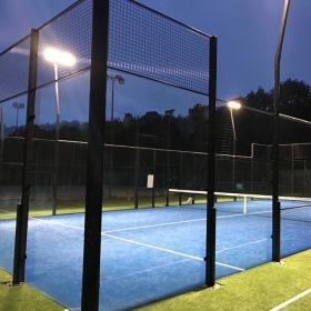 China 12mm clear tempered glass wall for tennis padel court fence,12mm transparent toughened glass for outdoor tennis padel court canopy,1/2 inch thick esg glass for tennis padel court factory