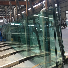 China 12mm jumbo size clear tempered glass, 12mm  jumbo size toughened safety glass,12mm tempered safety glass factory