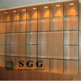 China 12mm safety toughened glass shelves, 12mm rectangle glass shelves , 12mm clear tempered glass shelves panel factory