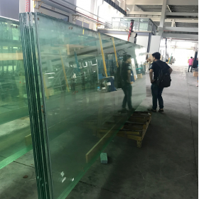 China 12mm ultra clear tempered glass+2.28mm PVB+8mm Low iron tempered glass,22.28mm Extra clear tempered laminated glass,1286 VSG ESG safety glass factory