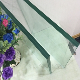 China 13.52 mm clear heat strengthened laminated glass China factory, custom shape & size 13.52 mm Clear tempered sandwich glass manufacturer factory