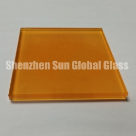 China 13.52mm frosted colored PVB laminated glass, 66.4 colored toughened laminated glass SGCC certified glass factory, 1/2 inch colour ESG VSG glass CE certified glass factory factory