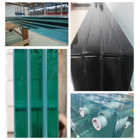 China 15.15.15.15.4 Low Iron SGP interlayer heat soak testing laminated glass, 66.08 Heat soak Ultra clear tempered SGP laminated glass factory