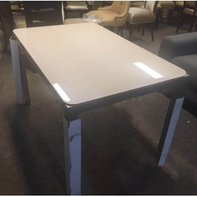 China 15mm white tempered glass table tops, 5/8 inch screen printed glass table tops, white glass table tops supplier and manufacturer factory