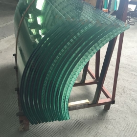 China 17.52mm Bent Laminated Safety Glass, 884 curved laminated glass, 8mm curved glass+1.52 interlayer+8mm bent glass factory