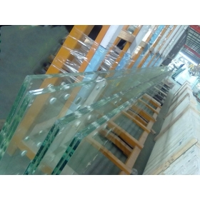 China 19mm flat toughened glass fence, 19mm flat tempered glass railing, 19mmtoughened tempered glass factory