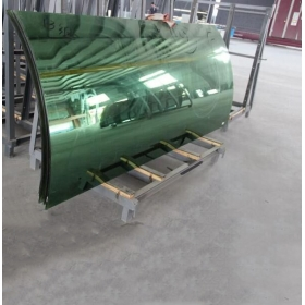China 21.52MM Curved Tempered laminated  Glass,, 10104  Bent Laminated Glass, 21.52MM Heat Soak Bent Toughened Laminated Glass factory