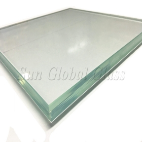 China 21.52mm HST Ultra clear low Iron tempered laminated glass, 10.10.4 heat soaked toughened low iron laminated glass, 21.52 thickness heat soaking test starphire glass toughened laminated glass factory