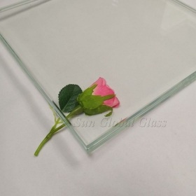 China 22.28 mm thick SGP Laminated Tempered Low Iron Glass,10mm thick Extra Clear Tempered Glass + 2.28mm Clear SGP + 10mm thick Extra Clear Tempered Glass factory