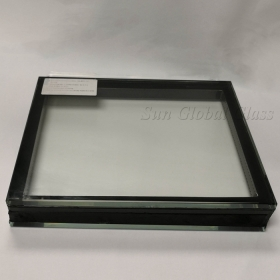 China 24.52mm tempered laminated insulated glass, 9.52mm tempered laminated glass +9A air/argon gas+ 6mm tempered glass, 24.52mm double glazing VSG ESG factory