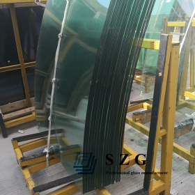 China 25.52mm curved toughened laminated glass,12124 bent laminated glass,12mm tempered +1.52mm pvb+12mm tempered laminated glass factory