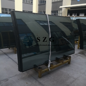 China 28mm curved insulated glass,8mm+12a+8mm bent hollow glass,Insulated glass curved for facade / curtain wall factory