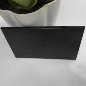 China 441dark gray laminated glass,8.38mm gray PVB film laminated glass,4+4 laminated safety glass, factory