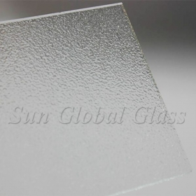 China 4mm Nashiji clear patterned glass factory, 4mm Nashiji clear figured glass sheet, high quality 4mm Nashiji clear patterned glass panel factory