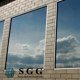 China 4mm light blue reflective glass window,4mm blue reflective glass window,4mm energy saving glass window factory