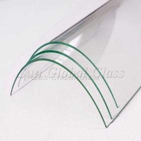 China 5 mm Safety glass curved shape, Besopke design 5 mm bent glass, colorful 5 mm bent tempered glass factory