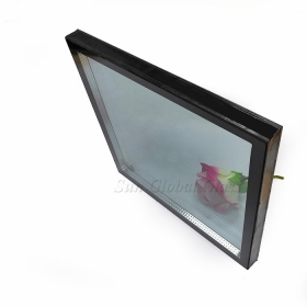 China 5mm+12A+5mm low e argon toughened insulated glass, 22mm energy saving IGU glazed tempered glass, sound insulation double glazing insulated glass panes factory