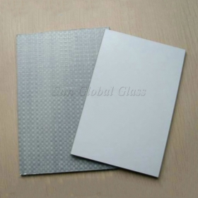 China 5mm CAT-II Woven fabric film safety mirror,5mm CAT-II glass and mirror in China,5mm waterproof safety mirror factory
