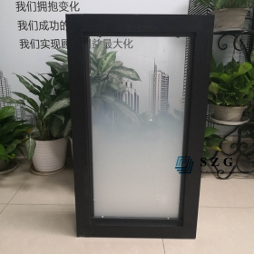 China 6+1.52PVB+6 gradient glass partition with frame, 66.4 gradient tempered laminated glass office partition, 13.52mm ESG VSG gradient glass for partition factory