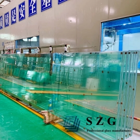 China 61.56mm clear Glass  Tempered with HST Laminated, sentryglass with 19+2.28+19+2.28+19mm SGP Glass,19+19+19 sgp laminated glass panel factory