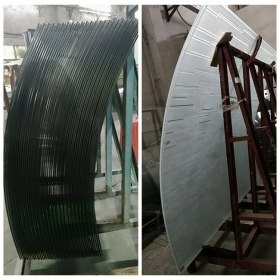 China 6MM ultra clear curved tempered glass,6mm bent low iron toughened glass,6mm extra clear  curved toughened glass factory